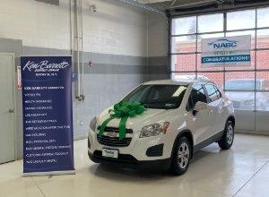 Ken Barrett Collision Center in Batavia donates refurbished vehicle to Oakfield mom